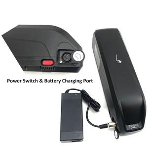 Großer Hailong 48V 17Ah E Fahrrad Li-Ionlithiumbatterie 750W 1000W Bafang elektrische Fahrradbatterie mit Schalter + 5V USB Hafen