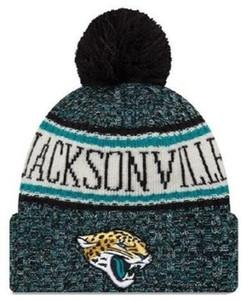 Gorro de Jacksonville más vendido Gorro de JAX Sideline Clima frío Marcha con dobladillo de punto con gorros de cráneo Pom Winer 00