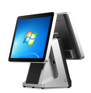Nuevo diseño Todo en uno Soporte de pantalla táctil Terminal POS / Sistema POS con impresora y caja registradora