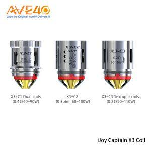 I-Joy Kaptan X3'lerden Subohm tank kaptan X3 tank kısım C1 0.4ohm C2 0.3ohm C3 0.2ohm Sextuple Bobinler% 100 Orijinal