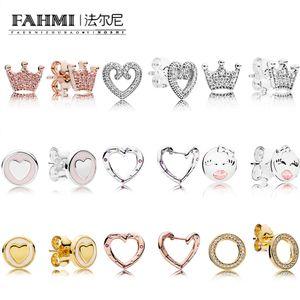 FAHMI 100% 925 1: 1 Charm brillará Por siempre dulces Declaraciones Rosa brillante del corazón limitada Bird Edición Primavera