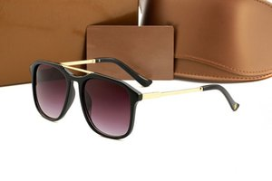 Yeni 2018 LOGO ile Mens Womens Marka 0321 Güneş Gözlüğü Kanıt Güneş gözlükleri Tasarımcı Cilalı Siyah Çerçeve Gözlük Gözlük Ücretsiz Kargo