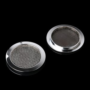 2psc Chrome Plated Screened Sound Hole Inserts for Dobro Resonator Guitar