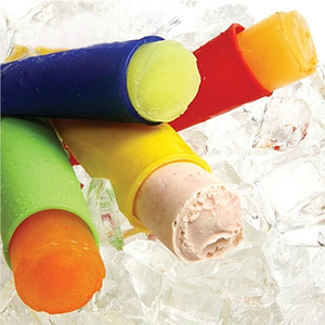 Makers Popsicles molde Ice Cream Colorful Silicone Ice Pop Push Up Ice Cream Jelly Lolly Pop Para picolé