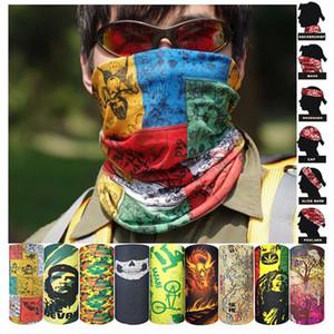 Máscaras de Halloween Hombres Accesorios al aire libre Montar bicicleta de mujer Bufanda mágica Pañuelo sin costura Multi Función Máscara del partido de la venda 1 35mb bb