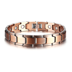 """12MM Wide Elegant Pure Copper Magnetic Therapy Bracelet For Men 8.5"""" Long"""