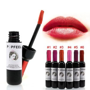 Long Lasting Liquid Lip Gloss Lipstick Makeup Moisturizing Wine Bottle Dyeing Lip Tint Beauty Lip Balm