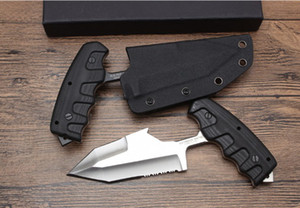 21CM grande spinta coltello da campeggio Coltelli da caccia Natale Halloween Holiday regali tasca knivest Free shippingWood maniglia spingere coltello