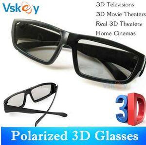 NOVA VSKEY 6 pcs Polarizada Passiva Óculos 3D Para TV 3D Passivo TV RealD Cinema Em Casa Cinema Teatros Sistema