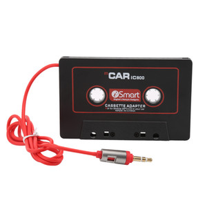 Adaptador de cinta del reproductor de cassette del coche Convertidor de reproductor de mp3 del casete para iPod para iPhone MP3 Cable AUX Adaptador de CD del enchufe de 3.5mm Jack