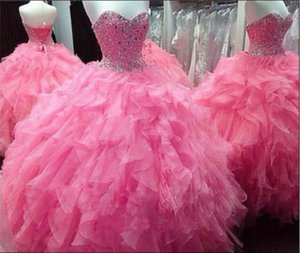 Quinceanera Dresses Beading Sweetheat Pageant Ball Gown Girl's Fashion Bridal Special Occasion Prom Birthday Bridesmaid Party Dress 17LF518