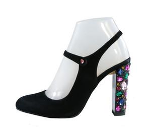 2018 yeni siyah süet Yüksek Topuklu Gladyatör sandalet elmas Sandalet noktası Ayak glitter Kadın Sandalet düğün ayakkabı kristal topuk pompaları
