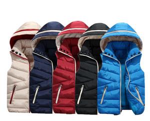 Família Roupas combinando Capuz Colete Outerwear Unisex Amante Da Família Set Zip Up Coletes de inverno Veste Cuir Femme Acolchoado Para Baixo de Poliéster
