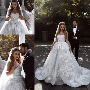 Sexy Africano Plus Size Vestidos De Noiva 2019 Sparkly Cristal Sweep Trem Árabe Dubai Nupcial Vestidos de Vestido de Noiva robe de mariée