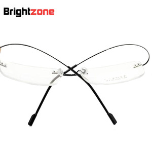 Ultra-light 9 colors fashion rimless glasses frames memory titanium metal eyeglasses frames/prescription rx-able optical frame
