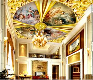 Dieu personnalisé European Retail Gold Hall Gospel Grand Zenith Mural Bonne Ange Famille Peinture murale