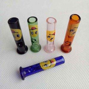 Mini-Glasfilter Tipps für trockene Kräuter Tabak Blättchen mit Tabak Zigarettenspitze Thick Pyrexglas Rauchpfeifen 40mm / 45mm Geschenk