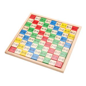 Madeira Math Dominoes Double Side Impresso Toy Block, Fun Bloco Board Game Toy, Montessori brinquedo educativo de madeira para crianças