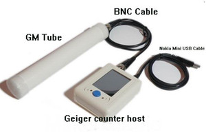 Freeshipping Digital Geiger Counter Nuclear Radiation Detector Radioactive Particles Detector + Nokia Mini USB Cable + BNC Cable + GM Tube