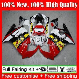 Cuerpo para HONDA CBR600RR F3 CBR600FS CBR 600 F3 97 98 48MT9 Amarillo blanco CBR 600F3 FS CBR600F3 CBR600 F3 1997 Kit de carrocería Fairing