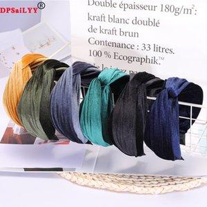 DPSALYY 1 ADET Toptan Bayanlar Kumaş Hairbands Üst Kadınlar Için Düğüm Kafa Şapkalar Saç Aksesuarları Kaymaz Kadife Headbands