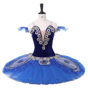 professionelle Ballett tutus Kleid Coppelia Royal Blue Bird orsaire Raymonda Prinzessin Florina Klassische Pfannkuchen Tutu Kostüm