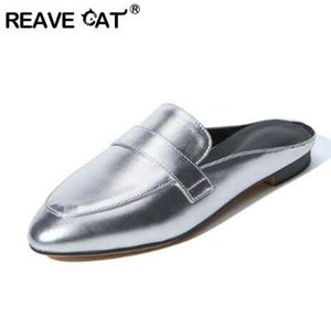 REAVE CAT Big size 32-43 Scarpe casual da donna estate Fashion 2017 Scarpe da mulo Pantofole esterne Scarpe basse Calzature donna RL3434