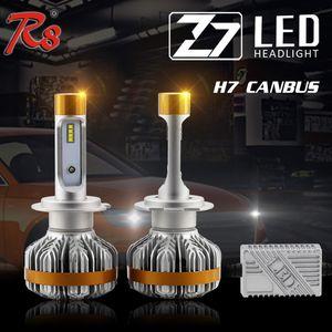 DHL Z7 자동차 헤드 라이트 Canbus ZES LED 헤드 라이트 키트 고출력 60W 7000LM 6500K H1 H4 H7 9005 HB3 9007 전구로 10 세트 배송