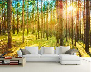 3d Wallpaper Mural Wall Painting Woodland scenery Photo Wallpaper Alta Calidad 3D Estereoscópica 3D Wallpaper Personalizado