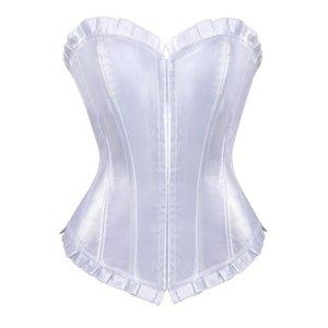 Sapubonva das mulheres preto branco espartilhos e bustiers tops plus size espartilho lingerie sexy emagrecimento brocade corselet overbust vintage