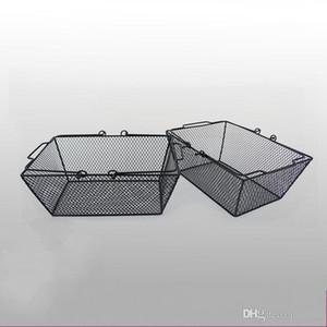 Cesta de compras de malla de alambre de hierro de metal resistente con asa de cestas de almacenamiento de gran tamaño Herramientas prácticas Contenedores de comida nuevo 30jh ZZ