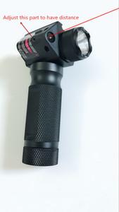Топ вертикальный цевье строб CREE светодиодный фонарик + красная точка лазерный прицел для винтовки