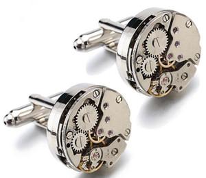 Hohe Qualität Männer Schmuck Exquisite Uhrwerk Manschettenknöpfe Ohne Wort Bewegung Hülse Nägel Für Mann Frauen Hemd Hochzeitskleid