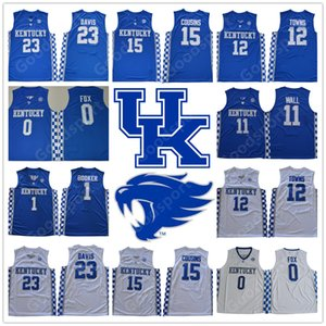 2018 Kentucky Wildcats universidades NCAA Aaron Fox 0 Devin Booker 1 Anthony Davis 23 jerseys DeMarcus Primos 15 JONH pared 11 pueblos 12