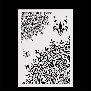 DIY Craft Home Decor Vintage Flower Template Reusable Layering Craft Stencils For Wall Painting Scrapbooking Stamps Album Decor