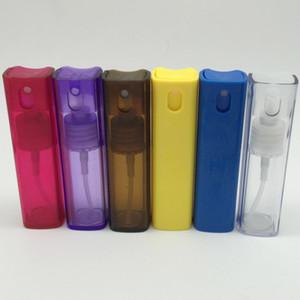 Bouteille carrée en plastique de jet de 10ML 10CC, atomiseur d'emballage d'échantillon de parfum, bouteille en plastique cosmétique d'emballage de toner de 10CC