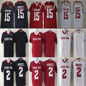 Texas AM Aggies 2 Johnny Manziel 9 Ricky Seals-Jones 40 Von Miller Negro Blanco Rojo Cosido Cualquier nombreNúmero Colegio Fútbol Jerseys S-6XL