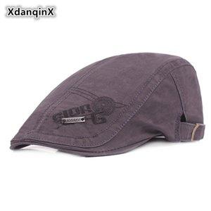 XdanqinX Mektup Nakış Ile 100% Pamuk Bere Sombrero Basit erkek Kap baba Şapkaları Erkekler Için Ayarlanabilir Boyutu Visor Şapka