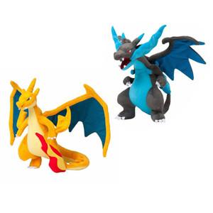Novo xy azul e amarelo Charizard pelúcia brinquedo de pelúcia animais boneca grande presente 9inch 23cm