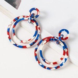 pendientes del encanto de la joyería de acrílico pendientes redondo círculo simple de la resina para las mujeres libres de la manera caliente de envío