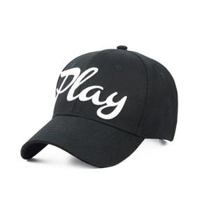 PLAY Işlemeli Kapaklar Erkekler Kadınlar Moda Beyzbol Şapkası 2 Renkler Spor Topu Ayarlanabilir Tasarım Pamuk Şapka Caps