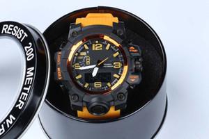 Горячая новый стиль relogio Мужские спортивные часы светодиодные хронограф часы военные часы цифровые часы мужчины мальчик ПОДАРОК с коробкой челнока
