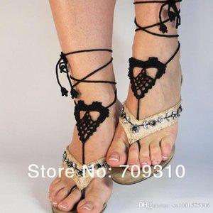 Lolita Barefoot Sandals- 브라, 신부 들러리 선물 - 크로 셰 뜨개질 샌들, 섹시한 샌들, 누드 신발, 레이스, 여성용 Accossories ..