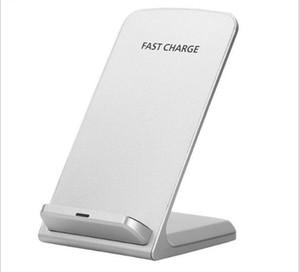 2 Bobin Kablosuz Şarj Hızlı Qi Kablosuz Şarj Standı Ped Apple iPhone X 8 8 Artı Samsung Note S8 S6 Tüm Qi-Enabled Akıllı Telefonlar