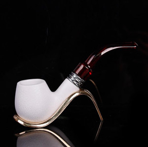 Imitation of meerschaum washable filter pipe smoking pipe resin