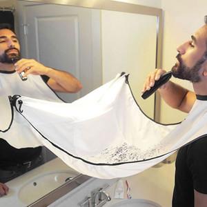 남자 방수 꽃 피복 가구 청소 Protecter 를 위한 120x80cm 남자 목욕탕 앞치마 까만 수염 앞치마 머리 면도 앞치마