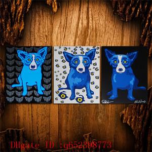 George Rodrigue Blue chien -148,3 PC HD Impression sur toile