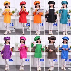 Многоцветные фартуки дети фартук карман ремесло приготовления выпечки искусство живописи дети кухня столовая нагрудник дети фартуки дети фартуки Wx9-643