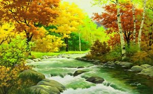 custom photo murals HD maple leaf red maple leaves branches landscape oil painting background wall painting