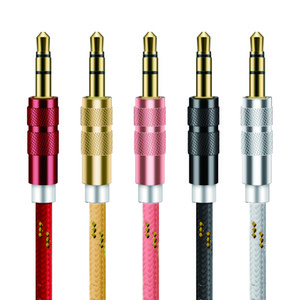AUX Cable Jack de 3.5 mm Cable de altavoz macho a macho para MP3 MP4 Player TV BOX Speaker Cable de audio de 3.5 mm